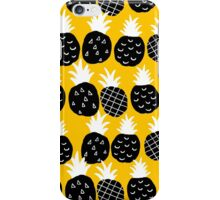 Black pineapple. iPhone Case/Skin