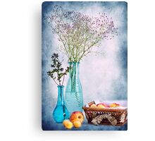 Flowers and fruits Canvas Print