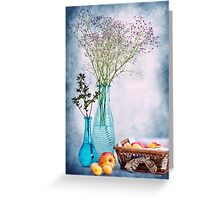 Flowers and fruits Greeting Card