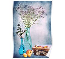 Flowers and fruits Poster