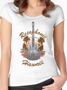Resophonic Hawaii (brown) Women's Fitted Scoop T-Shirt
