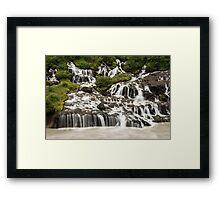 Hraunfossar Waterfall Iceland Framed Print