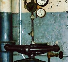 Gauges in Machine Shop by Susan Savad