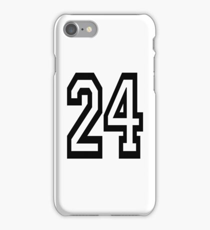 24, TEAM, SPORTS, NUMBER 24, TWENTY, FOUR, Competition,  iPhone Case/Skin