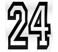 24, TEAM, SPORTS, NUMBER 24, TWENTY, FOUR, Competition,  Poster