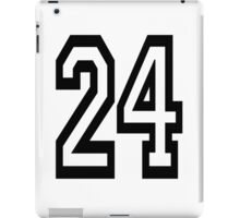24, TEAM, SPORTS, NUMBER 24, TWENTY, FOUR, Competition,  iPad Case/Skin