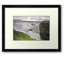 Gullfoss Waterfall Iceland Framed Print