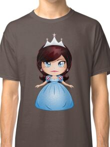 Princess With Black Hair In Blue Dress Classic T-Shirt