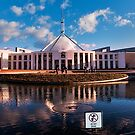 Canberra, Parliment House, do not drink! by Jaxybelle