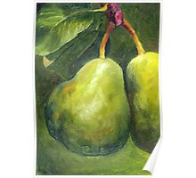 Go Green. Original Oil Painting by Cuban artist Magaly Poster