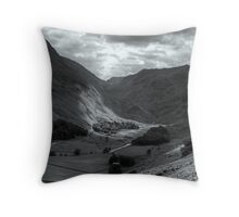 The Lights Shine Down The Valley.. Throw Pillow