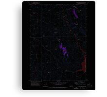 USGS Topo Map Oregon Upton Mountain 281945 1973 24000 Inverted Canvas Print