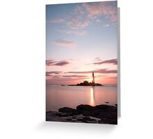 St Mary's at sunrise Greeting Card