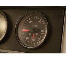 Mitsi Evo boost gauge. Photographic Print