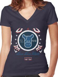 Lon Lon Milk Women's Fitted V-Neck T-Shirt