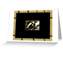 Cowl Scarflette, Black Leaves on Tan Greeting Card