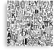 The Alphabet Canvas Print