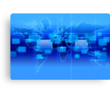 Digital World Banner Canvas Print
