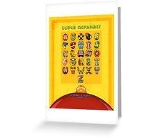 Super Alphabet back cover Greeting Card