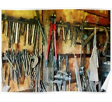 Wall of Tools With Shop Apron Poster