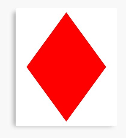 ACE, DIAMONDS, Cards, Game, Gang, Suit, Ace of Diamonds, Red Canvas Print