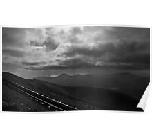 View from Mt Snowdon, Wales  Poster