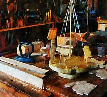 Wooden Toys in Wood Shop by Susan Savad