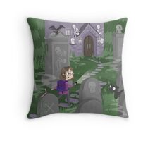 Exploring the Graveyard Throw Pillow