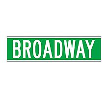 Broadway, New York Street Sign Photographic Print