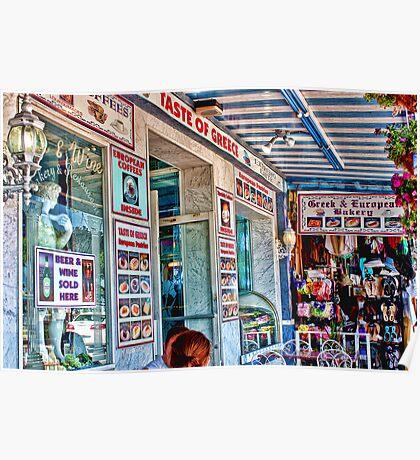 """TASTE OF GREECE""  Tarpon Springs, Florida Poster"