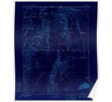 USGS Topo Map Nevada Disaster 321657 1893 250000 Inverted Poster