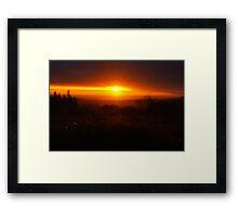 Quantock Sunrise Framed Print