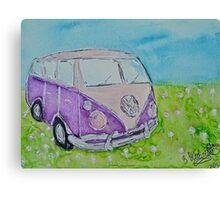 Split Screen Camper Van  Canvas Print