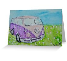 Split Screen Camper Van  Greeting Card