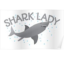 (awesome NEW Crazy) grey Shark Lady Poster