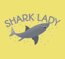 (awesome NEW Crazy) grey Shark Lady Kids Tee