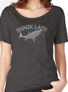(awesome NEW Crazy) grey Shark Lady Women's Relaxed Fit T-Shirt