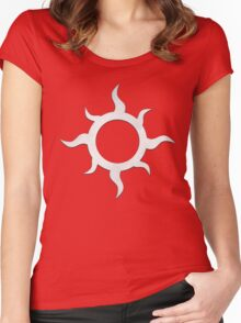 Eight Point Swirl Women's Fitted Scoop T-Shirt