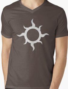 Eight Point Swirl Mens V-Neck T-Shirt