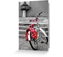 Una bicicletta a Riva del garda Greeting Card