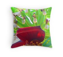 Bananas - tropical art made by the nature - Platanos - arte tropical de la madre naturaleza Throw Pillow