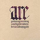 calligraphy I by Mina Marković