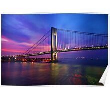 Verrazano Narrows Bridge Digital water color Poster