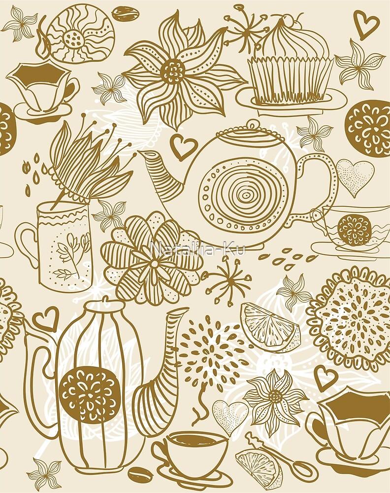 retro tea party by Nataliia-Ku