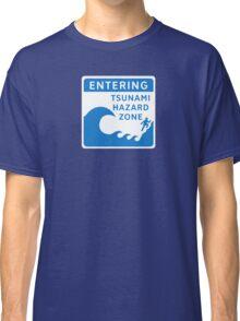 Tsunami Hazard Zone, Sign, Canada Classic T-Shirt