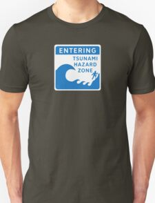Tsunami Hazard Zone, Sign, Canada Unisex T-Shirt