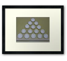 Plate pyramid. Framed Print
