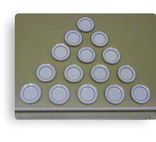 Plate pyramid. Canvas Print