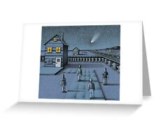 Meteor on Maple Street Greeting Card