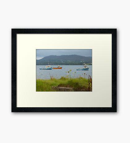 Fishing boats at Milford Framed Print